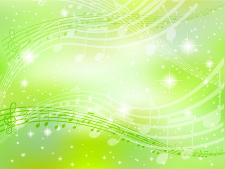 clean sky: Music note background green