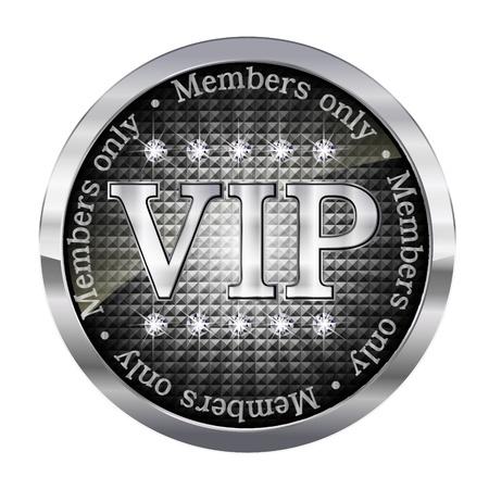 VIP プレミアム エンブレム メダル  イラスト・ベクター素材