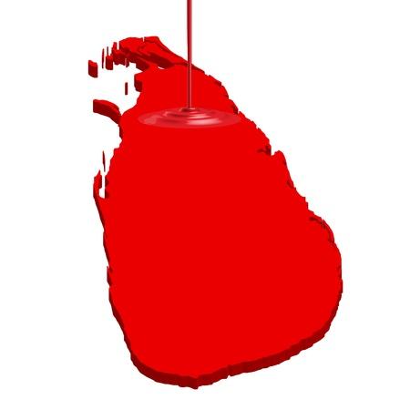 lanka: Sri Lanka map country Illustration