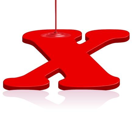liquid x: X alphabet emblem