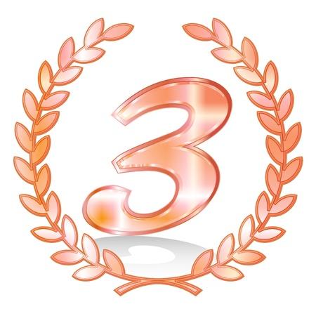 3 Laurel Laurier Vector