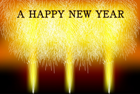 new year's: New Year s fireworks background Illustration