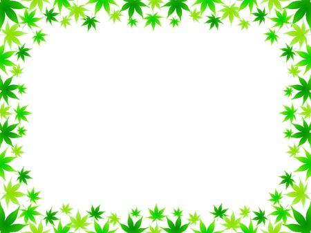 aoba: Maple leaf frame