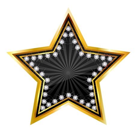 ゴールド スター ダイヤモンド 写真素材 - 19718865