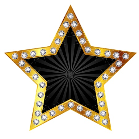 gold star: Star gold diamond