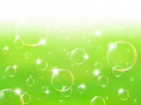 Background soap bubbles green Illustration