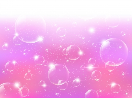 burbujas de jabon: Fondo de color rosa burbujas de jab�n