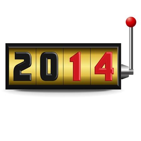 2014 新年スロット  イラスト・ベクター素材
