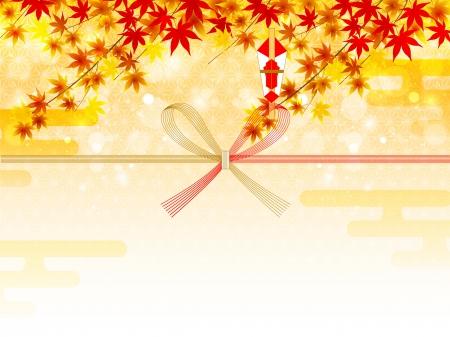Noshi maple autumn Ilustração