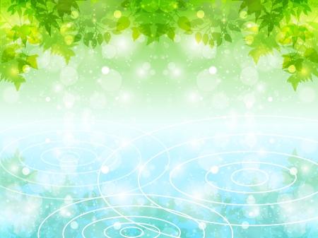 Leaf background water summer Ilustração