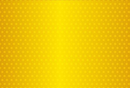 大麻葉のパターン ゴールド