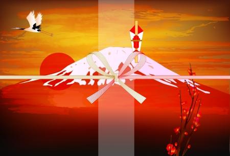 Noshi Red Fuji Mount Fuji