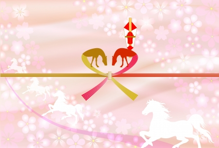 Horse auspicious decoration for gifts Pink Stock Vector - 21043536