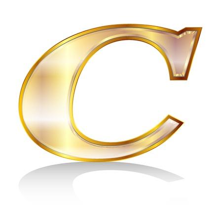 c㠀€ アルファベット エンブレム  イラスト・ベクター素材