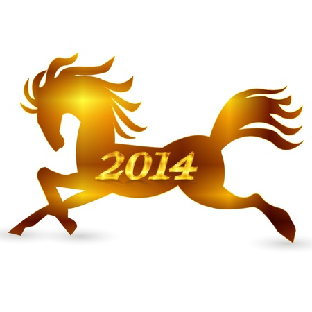 Horse zodiac New Year s card Stock Vector - 21296013