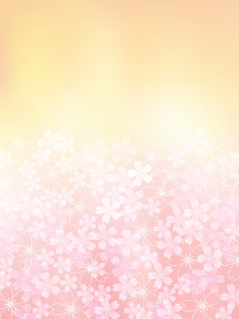 Tree pink background of cherry Stock Vector - 21296050