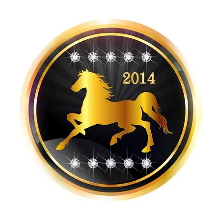 Horse gold medal Vector