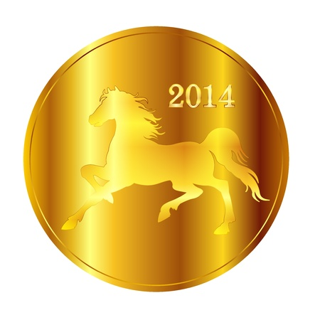 Horse gold medal Stock Vector - 21357968