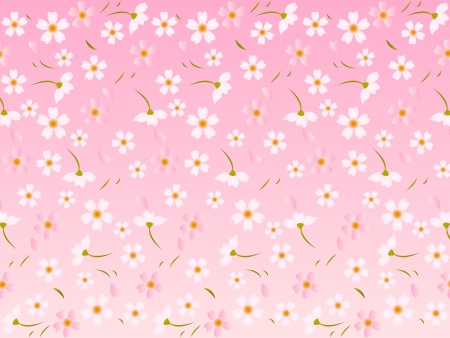 Spring tree background of cherry Vector
