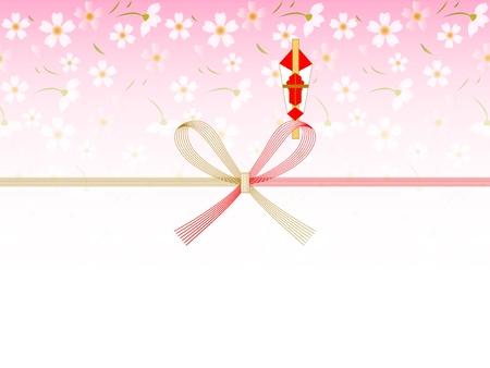 auspicious: Tree spring auspicious decoration background of cherry Illustration