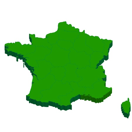 France Map country Illustration
