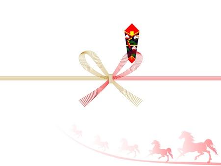 auspicious: Horse auspicious decoration background