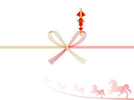 Horse auspicious decoration background Vector