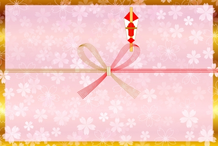 Background of auspicious decoration for gifts of cherry tree Stock Vector - 21689527