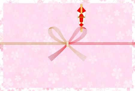 Background of auspicious decoration for gifts of cherry tree Ilustração