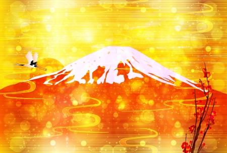 year        s: Carta Fuji rosso Capodanno s Vettoriali