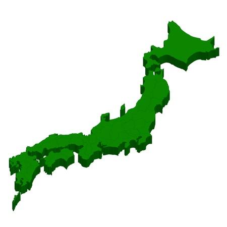 일본지도 상태 일러스트