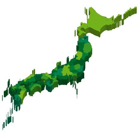 okinawa: Japan  map  state Illustration