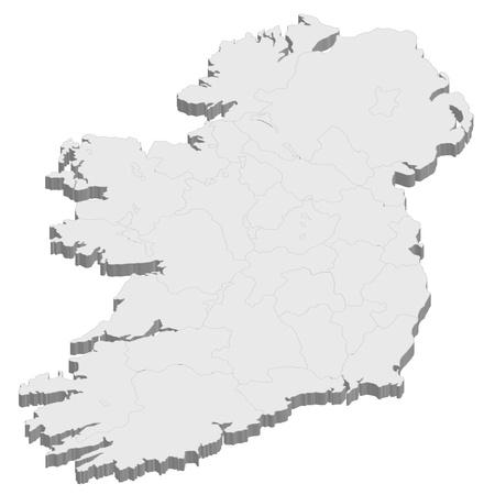 Ireland  map  country Illustration