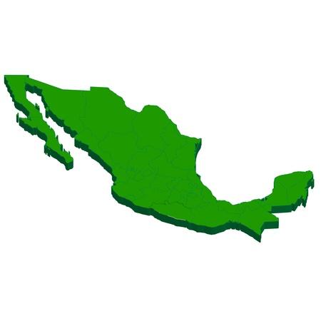 メキシコ地図国  イラスト・ベクター素材