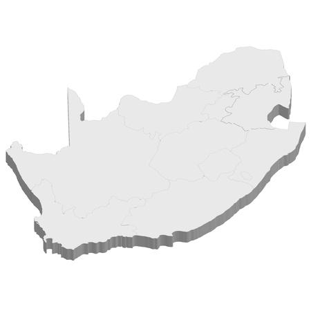 남아프리카지도 국가 일러스트