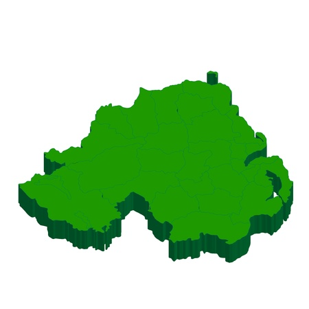 northern ireland: Northern Ireland  map  country