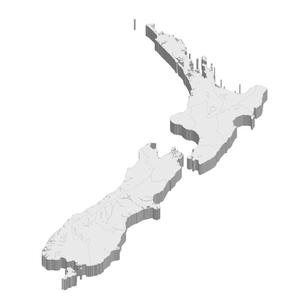 New Zealand  map  country Иллюстрация