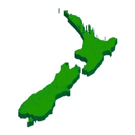 New Zealand  map  country Ilustracja