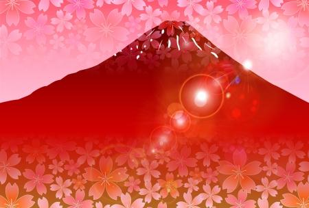 Mt Fuji red sunrise