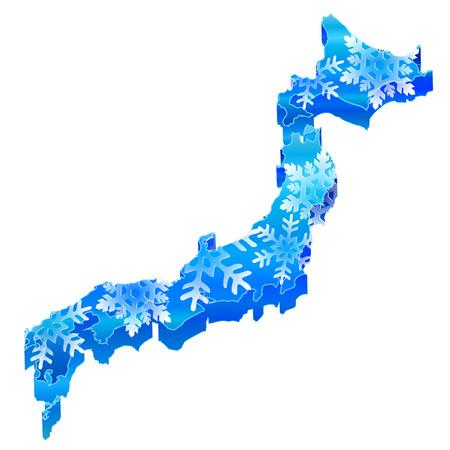 冬の雪の日本地図 写真素材 - 22466160