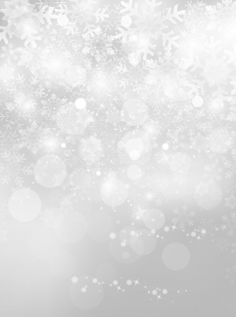 silver christmas: Christmas snow background