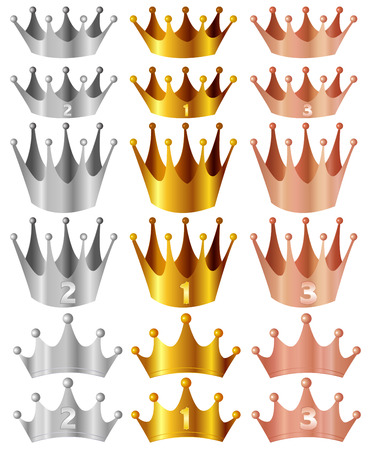 Crown Crown gold silver copper Vector