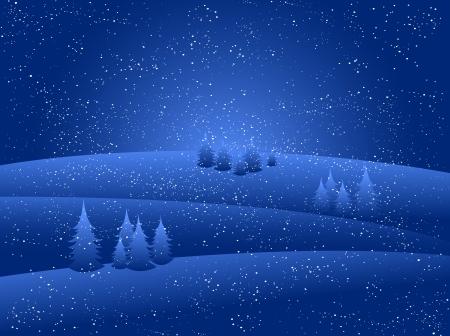 christmas landscape: Christmas snow background