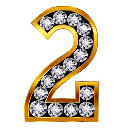 Nombre chiffres emblème Banque d'images - 22896009