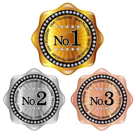 Number frame medal Stock Vector - 23241805