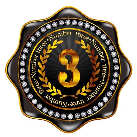 Number frame medal Vector