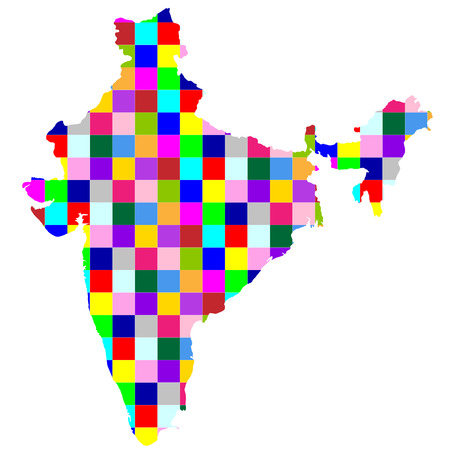インド地図国