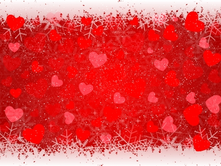 Heart Valentine background Stock Vector - 24094522