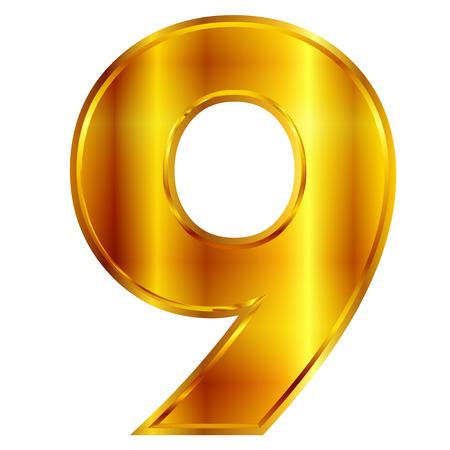 number plate:  9 digit number Illustration