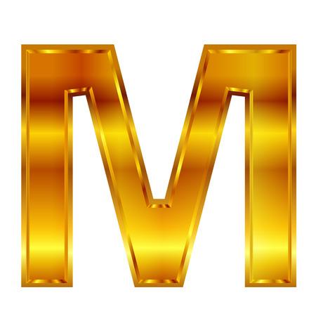 m: m gold emblem